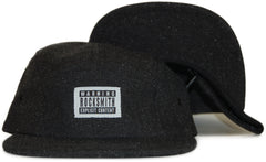 <!--020111122038286-->Rocksmith - 'Explicit Denim Tweed' [(Black) Five Panel Camper Hat]