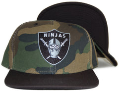 <!--020120228041737-->Rocksmith - 'Ninjas Crest' [(Camo Pattern) Snap Back Hat]