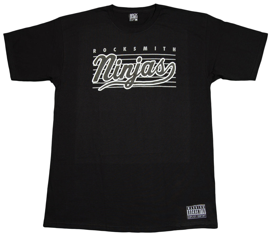 <!--2012060558-->Rocksmith - 'Ninja Script' [(Black) T-Shirt]