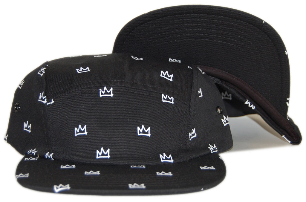 <!--020120626046410-->Rocksmith - 'Crown' [(Black) Five Panel Camper Hat]
