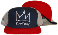 <!--2012062640-->Rocksmith - 'Crown Trucker' [(Dark Blue) Snap Back Hat]