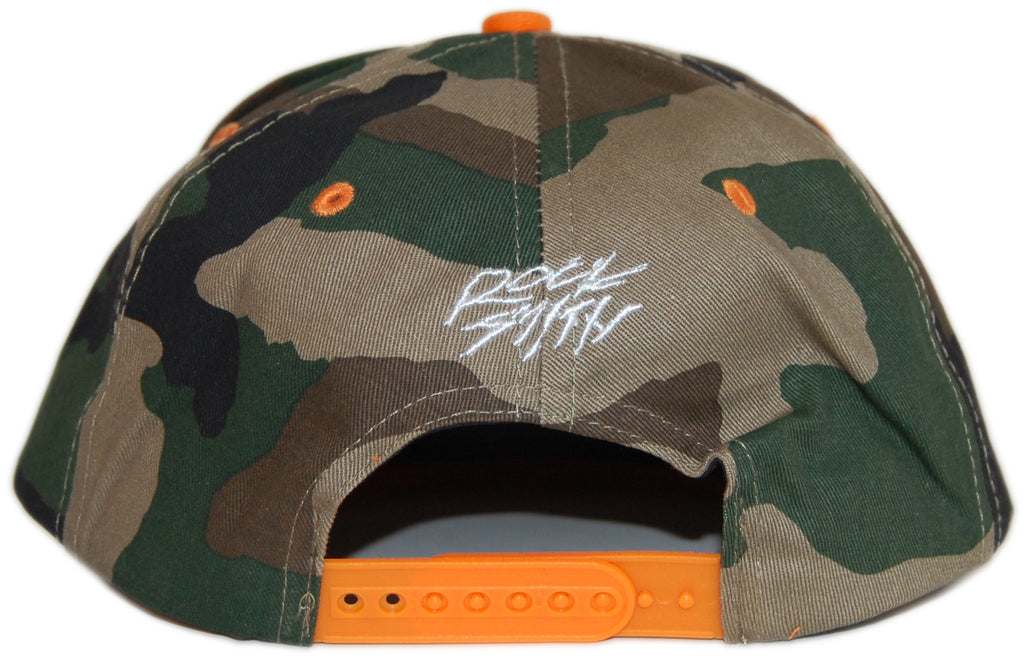 <!--020120626046404-->Rocksmith - 'Team Ninja - Orange/ Camo' [(Camo Pattern) Snap Back Hat]