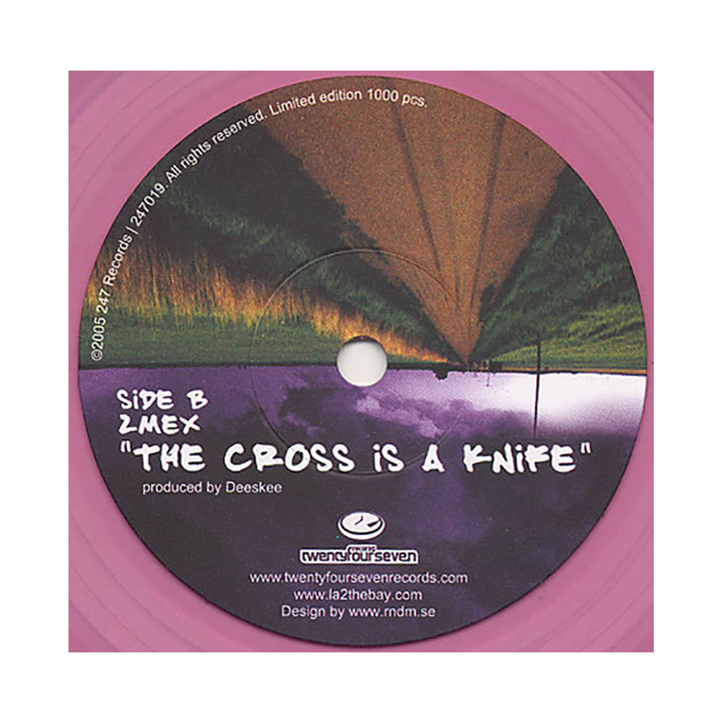 "Of Mexican Descent b/w 2Mex - 'Push The System b/w The Cross Is A Knife' [(Purple) 7"" Vinyl Single]"
