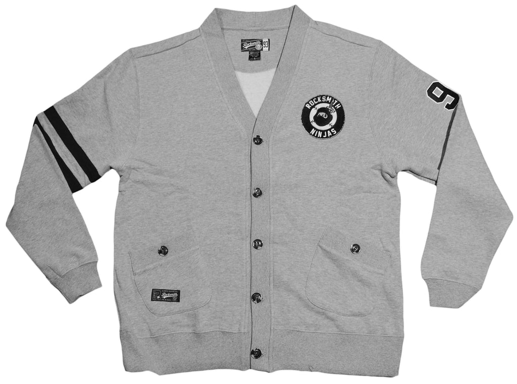 <!--2012103047-->Rocksmith - 'Head Ninja Cardigan' [(Gray) Sweater]