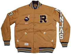 <!--2012103004-->Rocksmith - 'Block Ninja Varsity' [(Light Brown) Jacket]