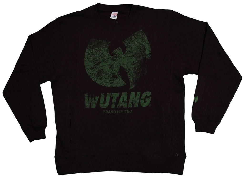 <!--2013042304-->Wu-Tang Brand LTD - 'W Distressed' [(Black) Crewneck Sweatshirt]