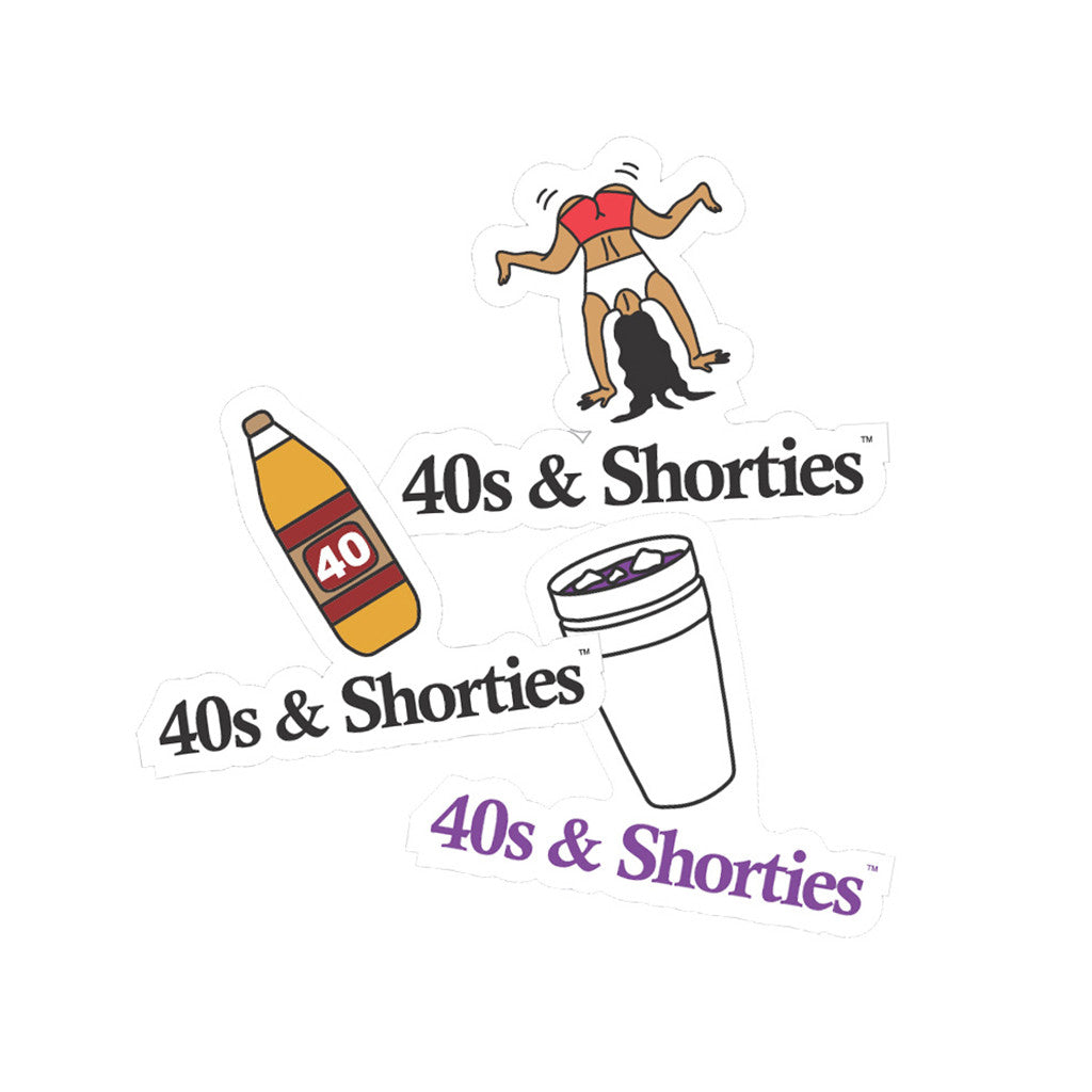 <!--020141001066408-->40s & Shorties - 'Sticker Pack (X 3)' [Sticker]