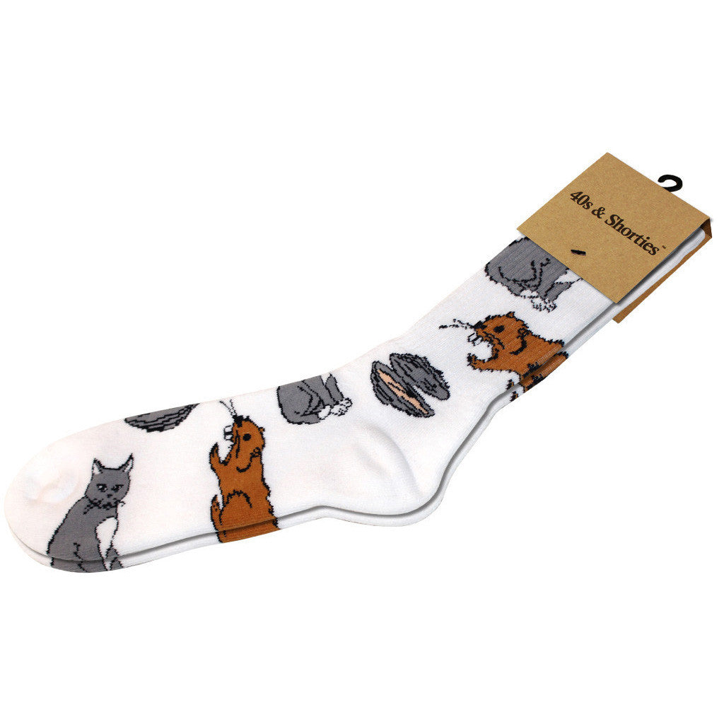 <!--020141023066733-->40s & Shorties - 'Pussy, Beaver, Clam' [(White) Socks]