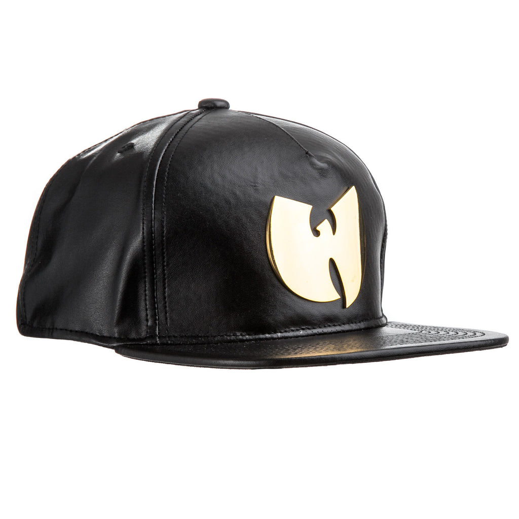 <!--020141229067918-->Wu-Tang Brand LTD - 'Gold Metal W' [(Black) Strap Back Hat]