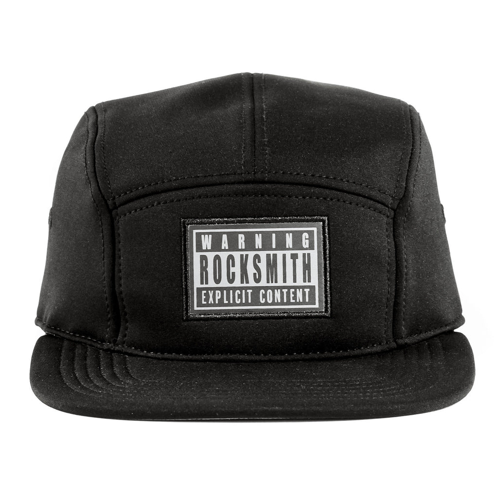 <!--020141126067382-->Rocksmith - 'Explicit Neoprene' [(Black) Five Panel Camper Hat]