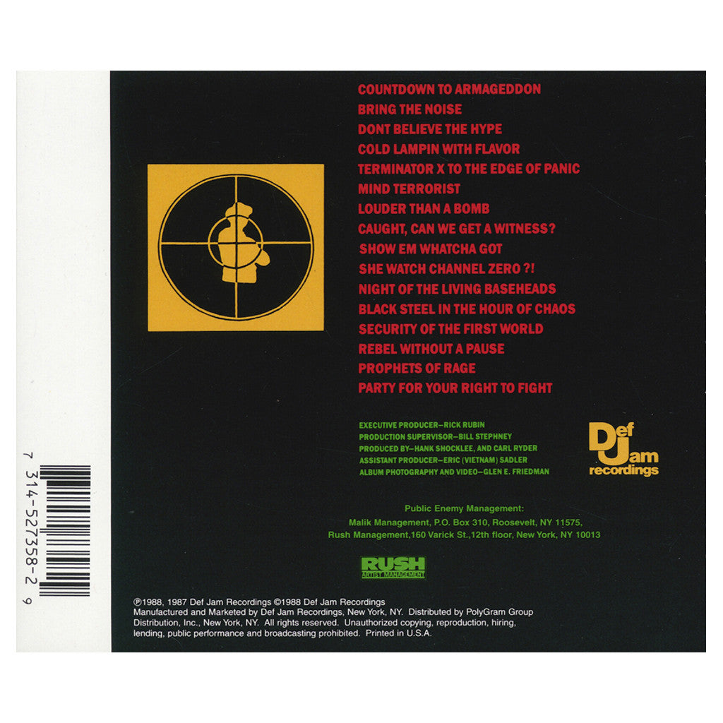 <!--119880101011696-->Public Enemy - 'It Takes A Nation Of Millions To Hold Us Back' [CD]