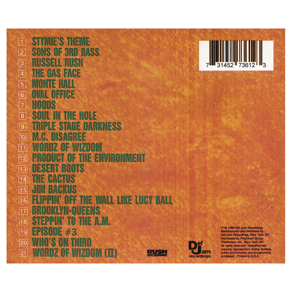 <!--119890101004920-->3rd Bass - 'The Cactus Album' [CD]