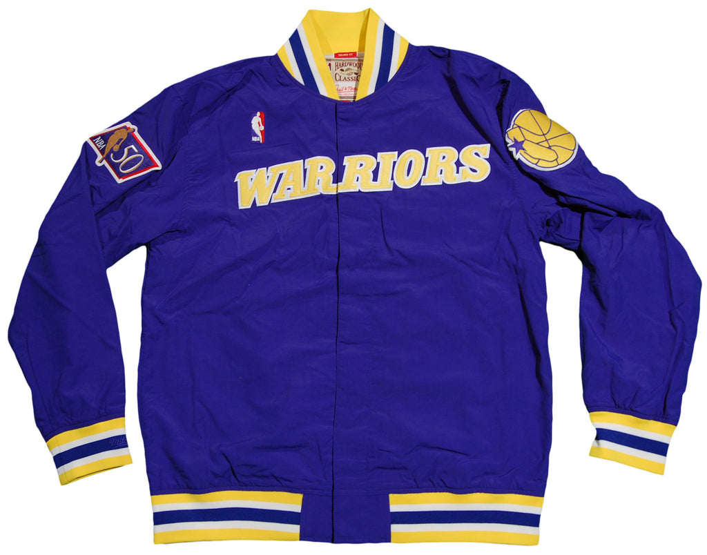 <!--2012103052-->Mitchell & Ness x NBA - 'Golden State Warriors - NBA Authentic Warm Up Jacket' [(Blue) Jacket]