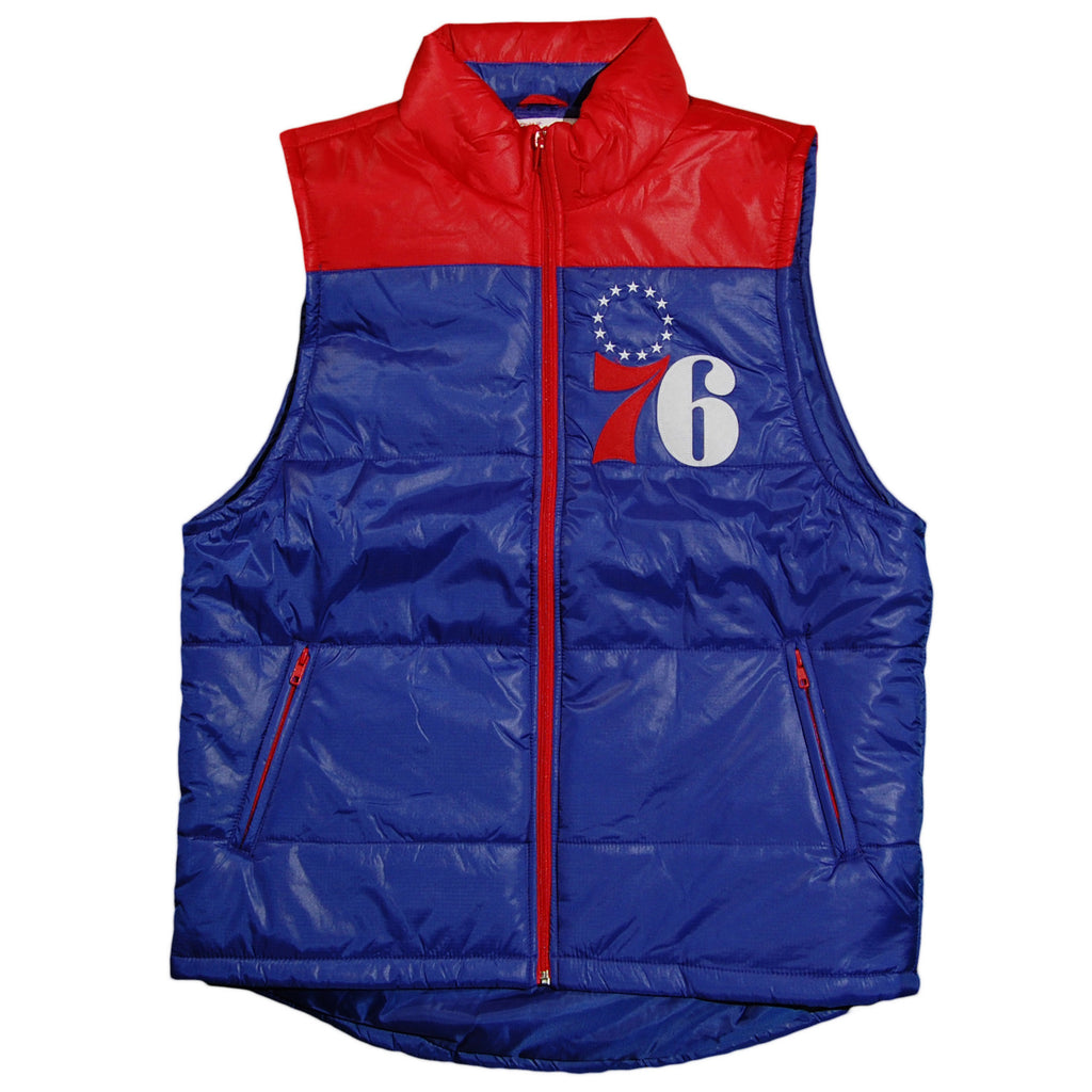 <!--2013091056-->Mitchell & Ness x NBA - 'Philadelphia 76ers - Winning Team Vest' [(Blue) Vest]