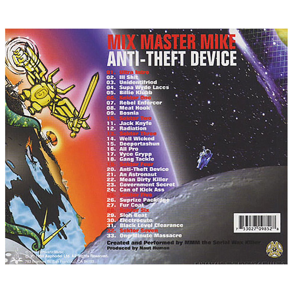 Mix Master Mike - 'Anti-Theft Device' [CD]