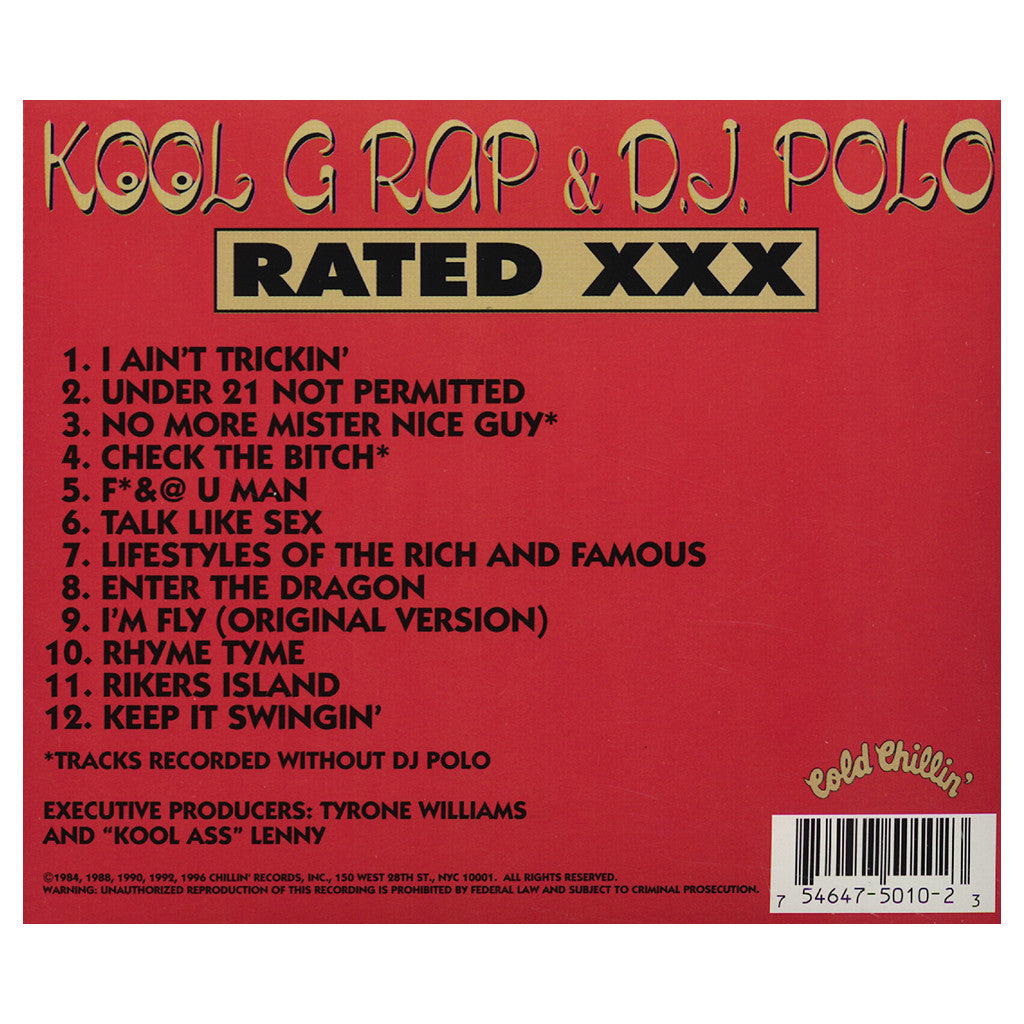 Kool G Rap & DJ Polo - 'Rated XXX' [CD]
