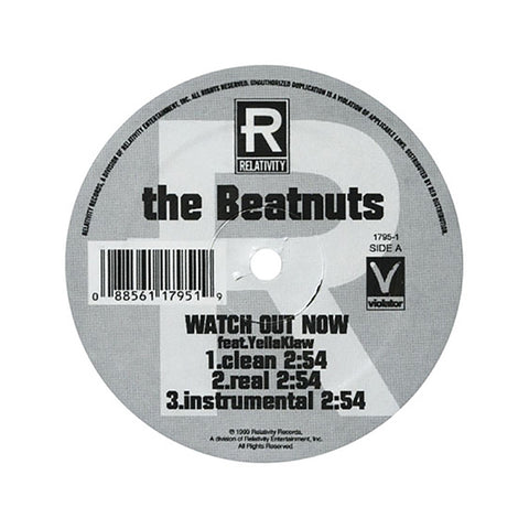"The Beatnuts - 'Watch Out Now/ Turn It Out' [(Black) 12"""" Vinyl Single]"