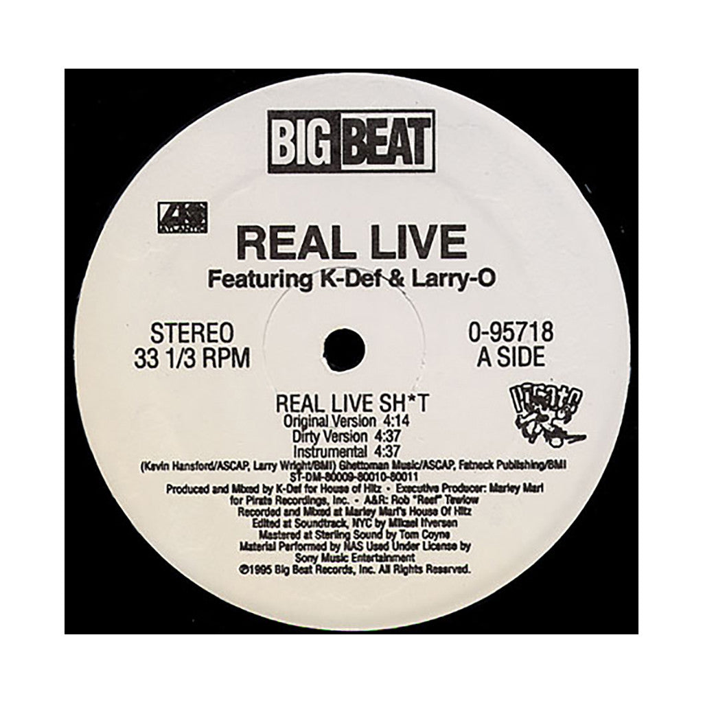 "<!--019950101014278-->Real Live - 'Real Live Shit/ Crime Is Money' [(Black) 12"" Vinyl Single]"