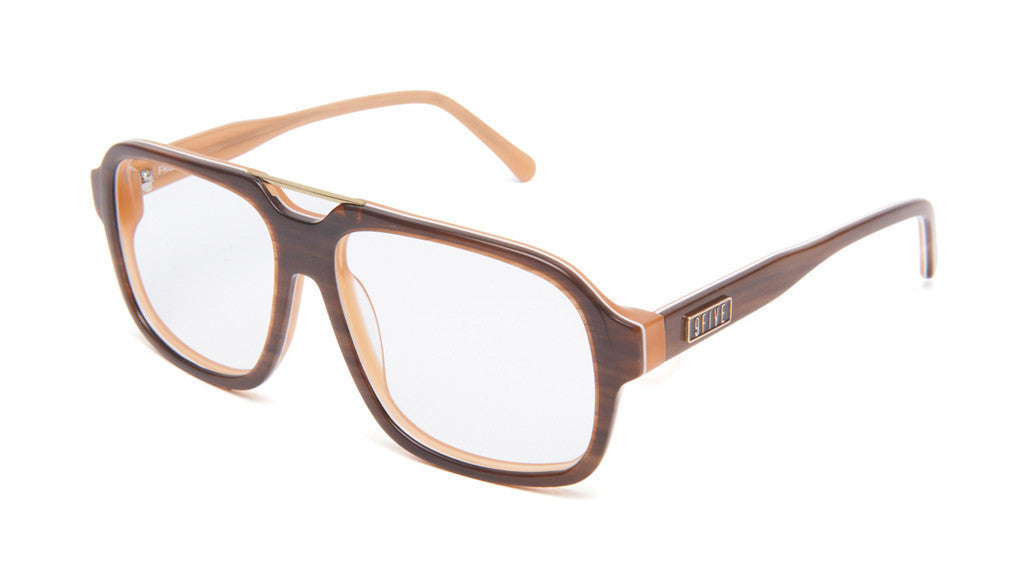 <!--020130416055937-->9five Eyewear - 'Fronts: Woodgrain (CLEAR LENS)' [(Wood) Sunglasses & Eyewear]