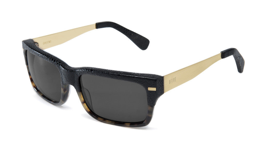 <!--020140603064259-->9five Eyewear - 'Greens: Black Snake Split' [(Black) Sunglasses & Eyewear]