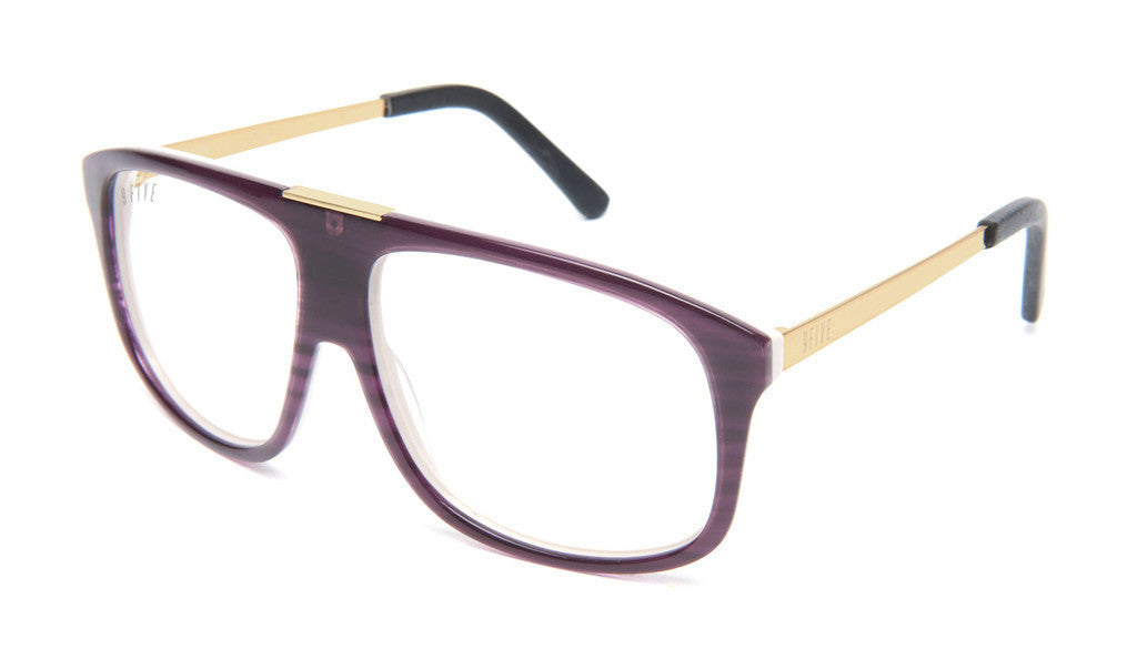<!--020130416055934-->9five Eyewear - 'Marauders - Purple Woodgrain (CLEAR LENS)' [(Purple) Sunglasses & Eyewear]