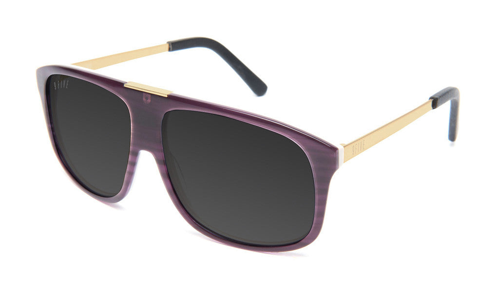 <!--020130416055935-->9five Eyewear - 'Marauders - Purple Woodgrain' [(Purple) Sunglasses & Eyewear]