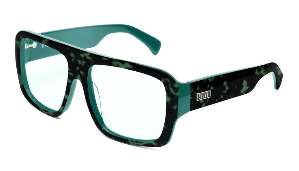 <!--020130416055932-->9five Eyewear - 'Tips: Teal Tortoise (CLEAR LENS)' [(Light Blue) Sunglasses & Eyewear]