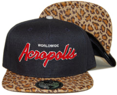 <!--020130903059515-->Acropolis - 'Acropolis Worldwide - Cheetah' [(Dark Blue) Snap Back Hat]