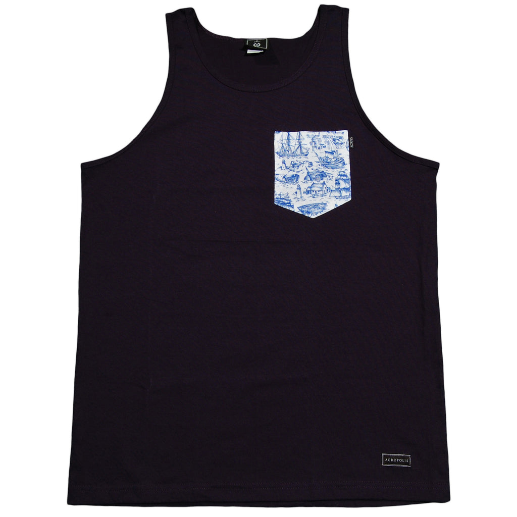 <!--2013031208-->Acropolis - 'Mariner' [(Dark Blue) Tank Top]