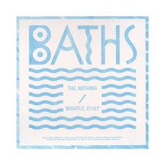 "Baths - 'The Nothing/ Nightly, Daily' [(Black) 7"" Vinyl Single]"