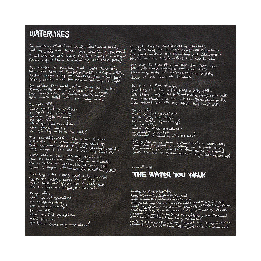 "<!--020130319054224-->Why? - 'Waterlines/ The Water You Walk' [(Black) 7"" Vinyl Single]"