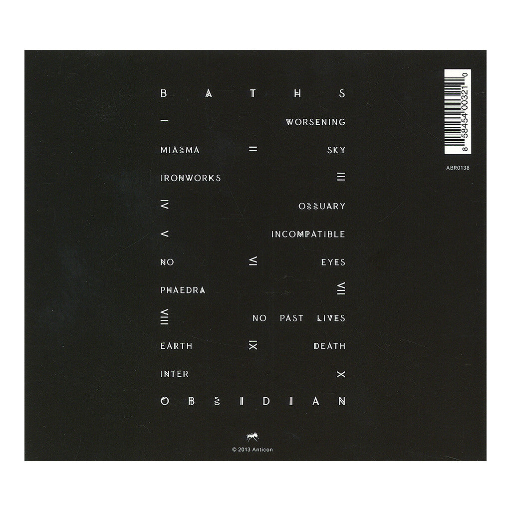 Baths - 'Obsidian' [CD]