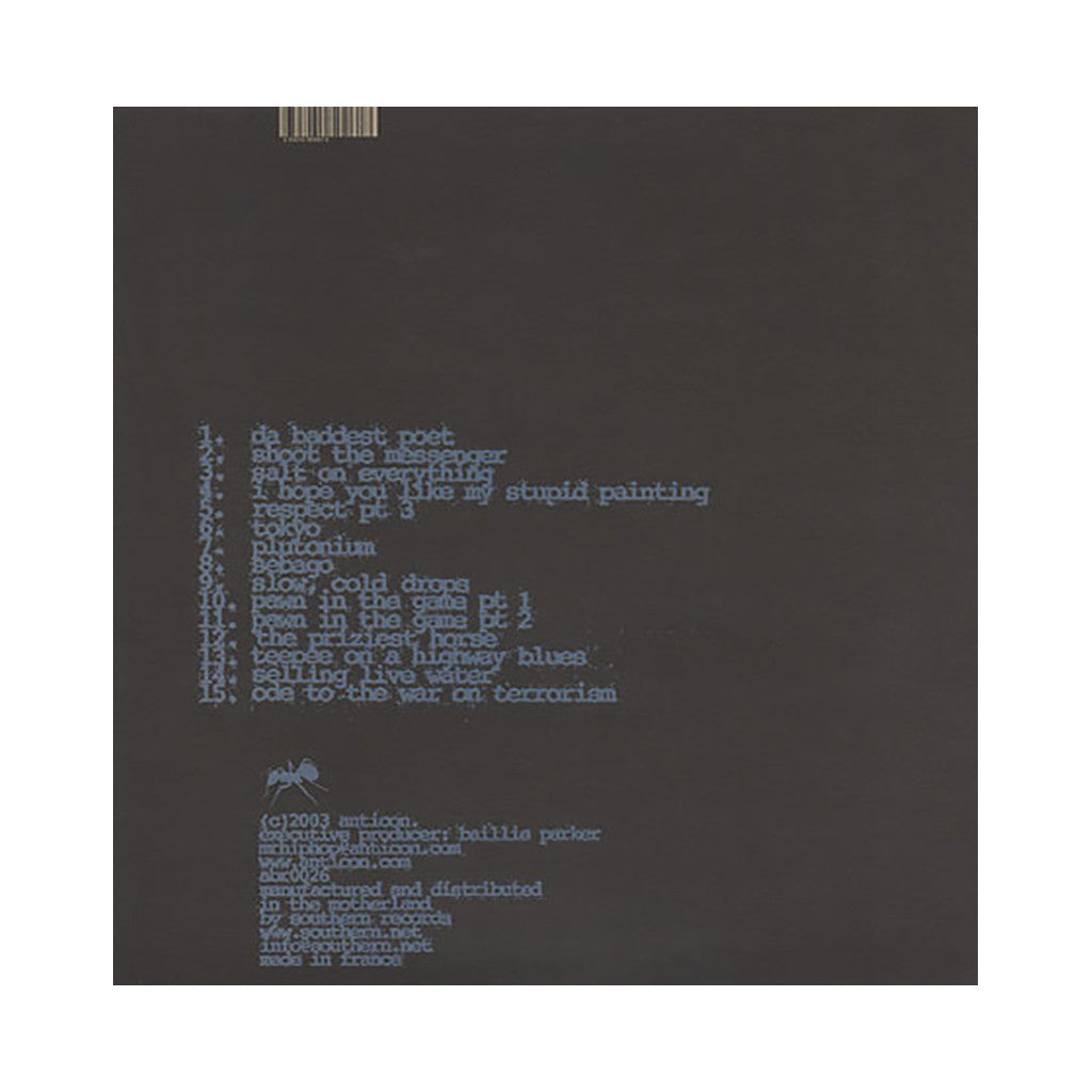 <!--020030204018285-->Sole - 'Selling Live Water' [(Black) Vinyl [2LP]]