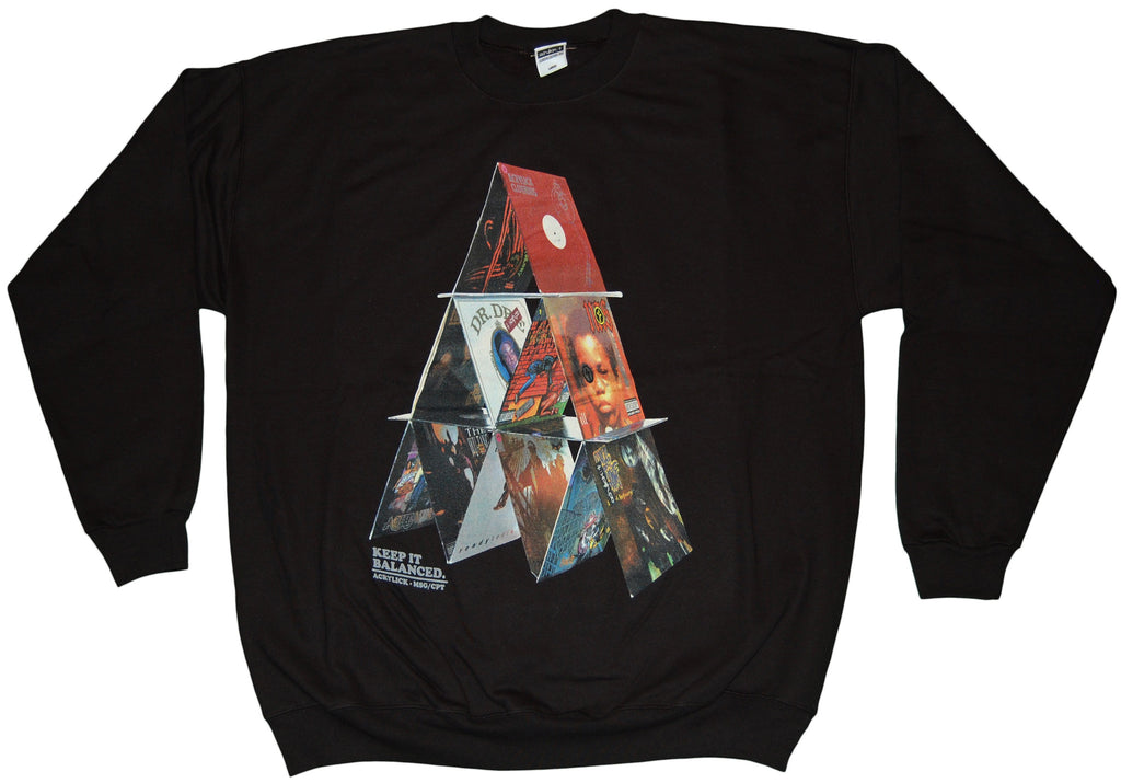 <!--2011110126-->Acrylick - 'Balanced' [(Black) Crewneck Sweatshirt]