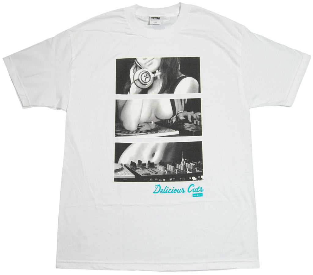 <!--2011110107-->Acrylick - 'Delicious Cuts' [(White) T-Shirt]