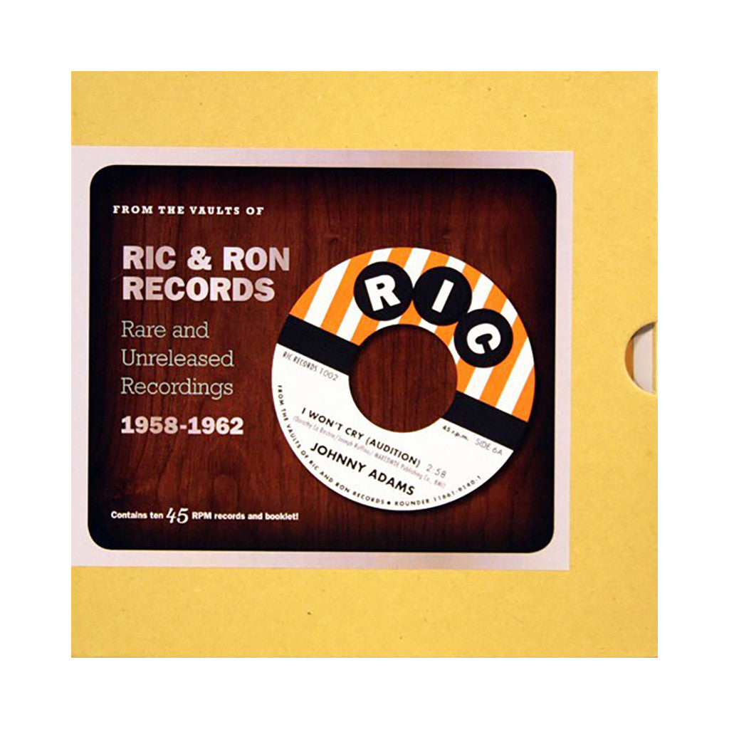"<!--020120807000208-->Various Artists - 'From The Vaults Of Ric & Ron Records: Rare & Unreleased Recordings 1958-1962' [(Black) 7"""" Vinyl Single [10x7""""]]"