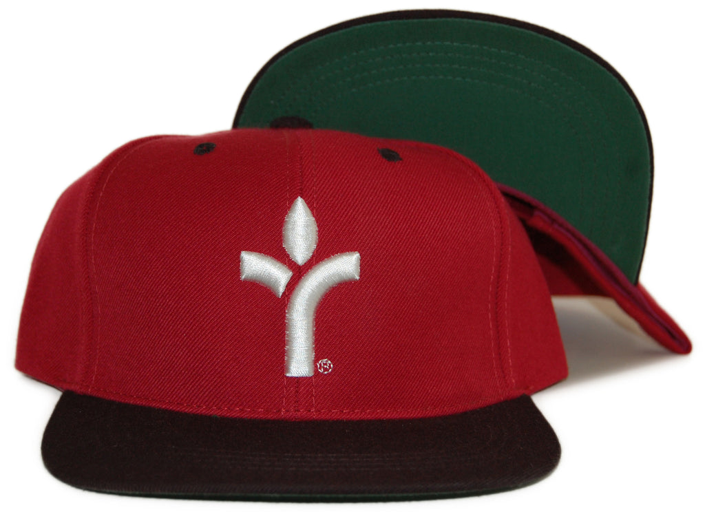 <!--020120410043898-->Acrylick - 'Icon - Cardinal' [(Dark Red) Snap Back Hat]