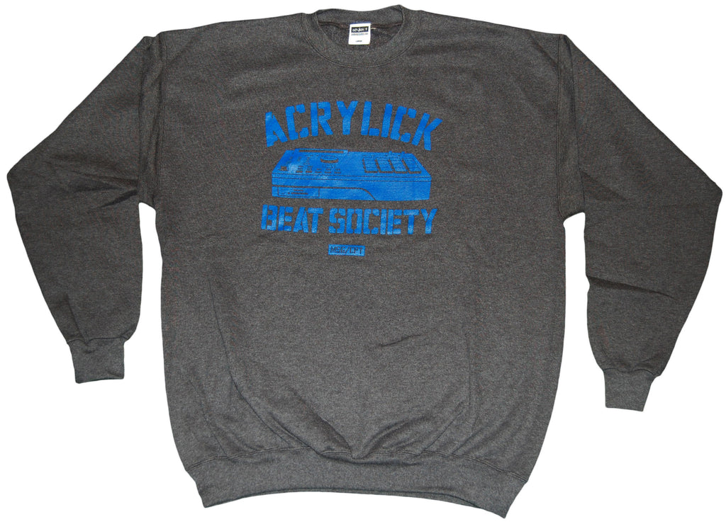 <!--2011110132-->Acrylick - 'Beat Society' [(Dark Gray) Crewneck Sweatshirt]