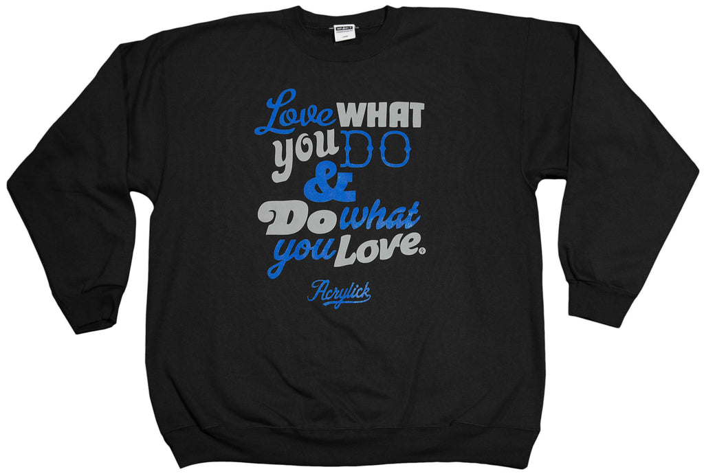 <!--2011121313-->Acrylick - 'For The Love' [(Black) Crewneck Sweatshirt]