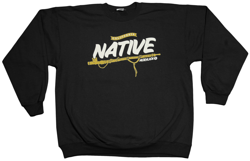 <!--2011121357-->Acrylick - 'Native' [(Black) Crewneck Sweatshirt]