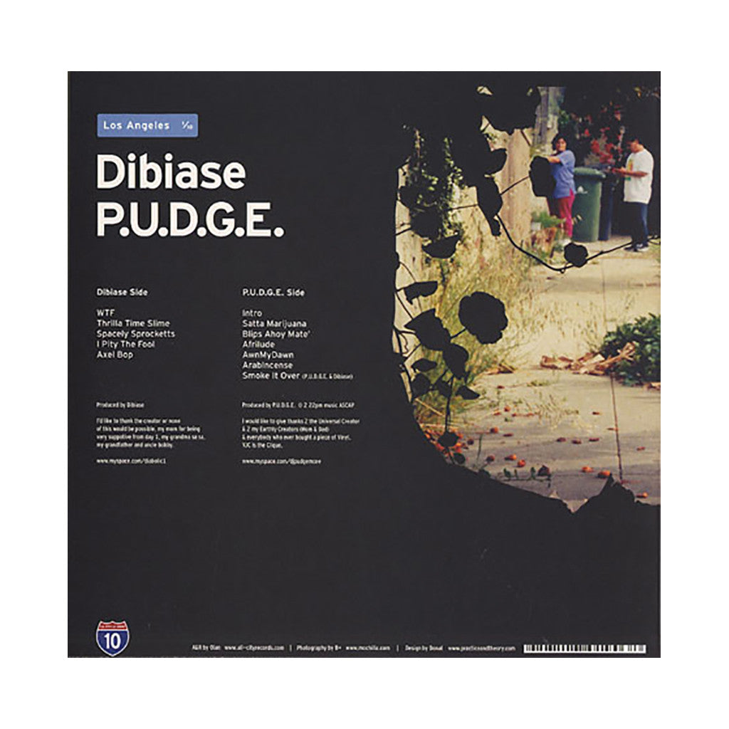 "Dibia$e b/w P.U.D.G.E - 'LA Series # 1 (1 of 10)' [(Black) Vinyl [10""]]"