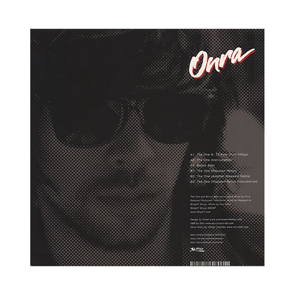 "<!--020100831011765-->Onra - 'The One/ The One (Waajeed Remixes)' [(Black) 12"" Vinyl Single]"