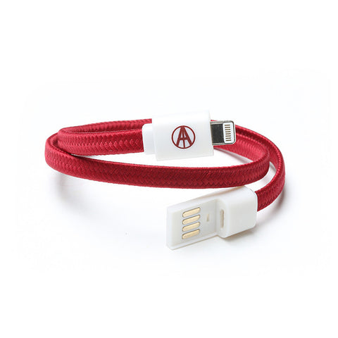 "Adapt Technology - '""""Essential"""" Double Wrap Lightning - Maroon White' [(Dark Red) Bracelet]"