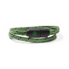 "<!--020160603073259-->Adapt Technology - '""""Essential"""" Double Wrap Lightning - Olive/ Black' [(Dark Green) Bracelet]"