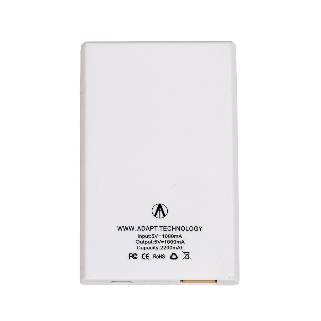 <!--020160603073254-->Adapt Technology - 'Power Card' [(White) Rechargeable Battery]