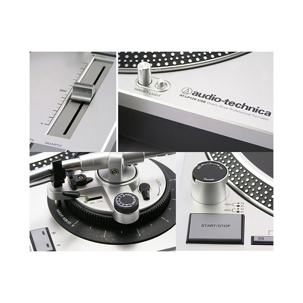 <!--120130212053989-->Audio Technica - 'LP-120 USB Direct Drive Professional' [(Silver) Turntable]