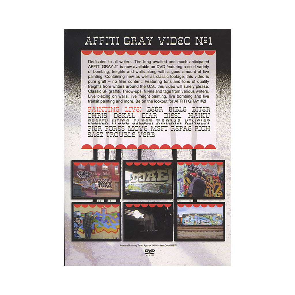 <!--020080715014425-->Affiti Gray - 'Affiti Gray Video #1' [DVD]
