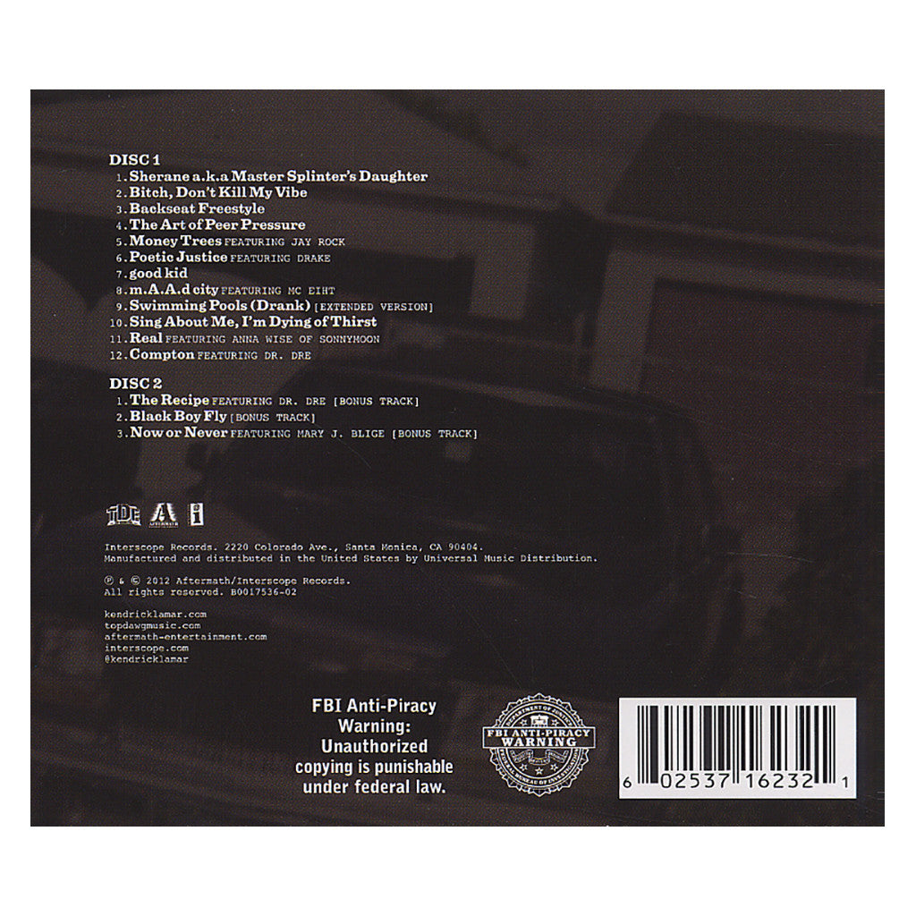 Kendrick Lamar - 'good Kid, m.A.A.d city (Deluxe Edition)' [CD [2CD]]