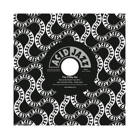 "The Filthy Six - 'Wanna Be Startin' Somethin'/ Iguana Strut' [(Black) 7"" Vinyl Single]"