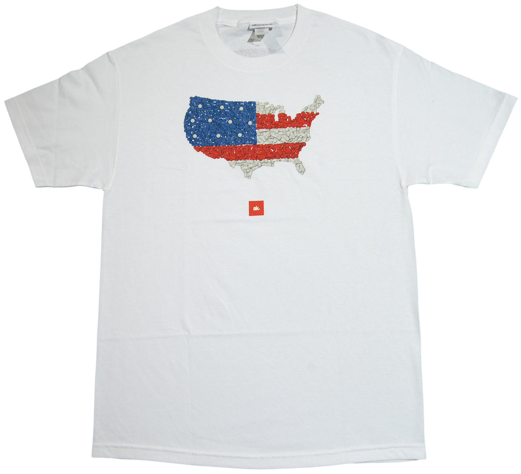 <!--2013100105-->Akomplice - 'Pillmerica' [(White) T-Shirt]